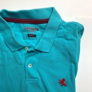 CLEARANCE ♦️Express Men's Pique Polo In Auqa